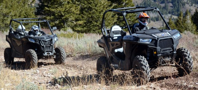 2020 Can-Am Trail 1000 and Polaris RZR 900 Action
