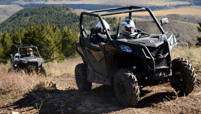 2020 Can-Am Trail 1000 vs. Polaris RZR 900 Action