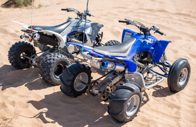 Yamaha YFZ450R and YFZ450 Rear