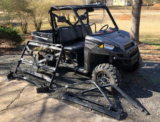 Damaged UTV Roll Cage Ready To Be Replaced
