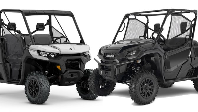 2020 Honda Pioneer 1000 Deluxe vs. Can-Am Defender DPS HD10: By the Numbers