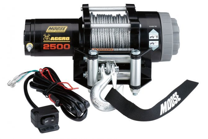 Moose ATV winches come with a capacity of 2500, 3500 or 4500 lbs.