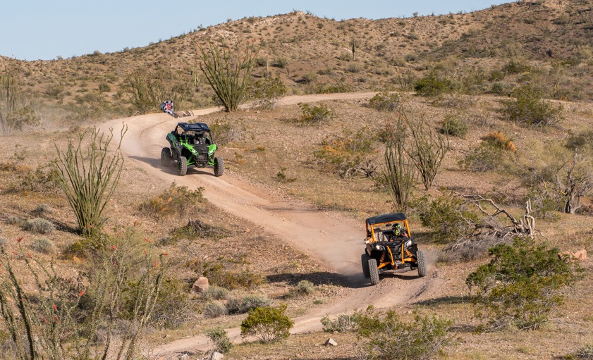 2020 Can-Am Maverick Sport X RC and Kawasaki Teryx KRX 1000 Action