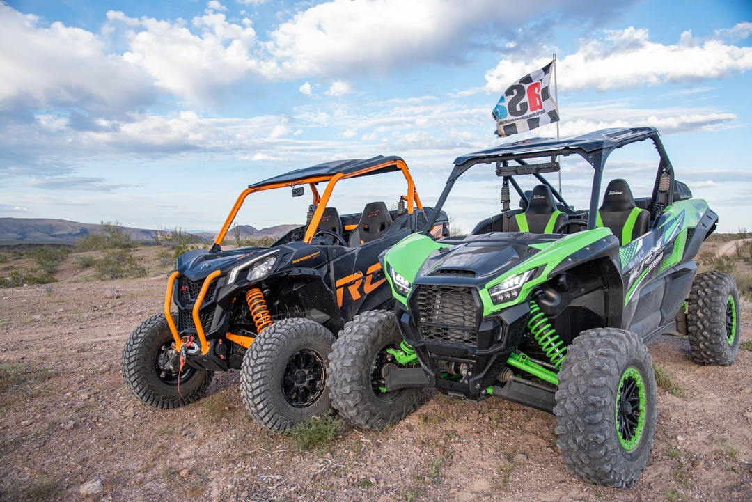 Kawasaki Teryx KRX 1000 vs. Can-Am Maverick Sport X RC Together