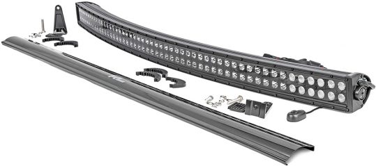 """Rough Country 50"""" Black Series Dual Row Curved CREE LED Light Bar"""