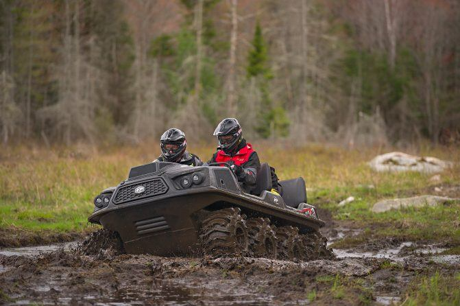 ARGO Aurora XTVs make quick work of swamps, powered by dependable V-twin 4-stroke EFI gas engines that are available in 33- or 40-horsepower outputs.