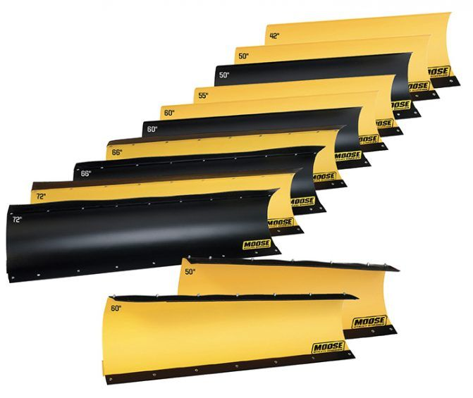An array of blades are available to round out the Moose Utility Division snow plow line.