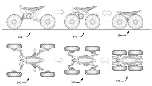 Honda Has Patent For Transforming ATV