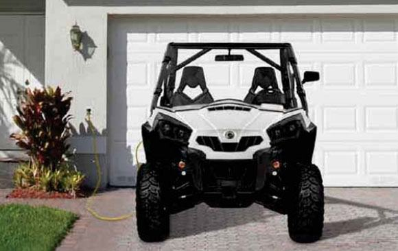 Can-Am Commander Electric Plugged In