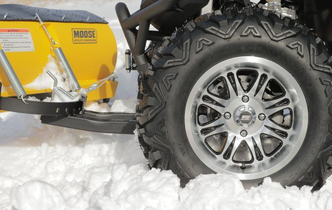Moose Utility Division tires in snow
