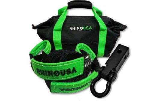 Rhino USA Combination 20' Tow Strap And Shackle Hitch Receiver