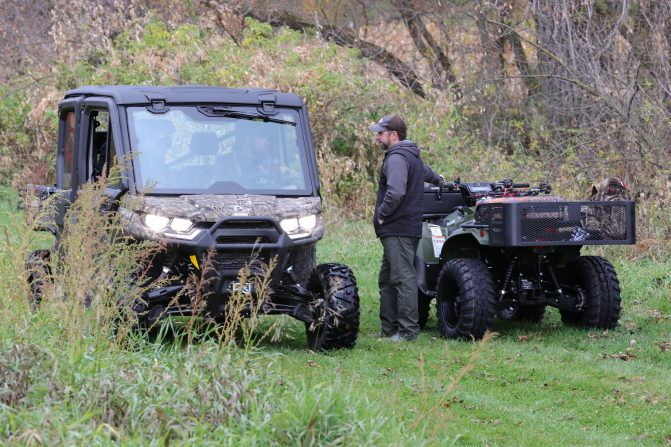 Moose Utility Division ATV racks in action