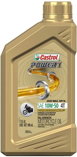 Castrol Power 1 10W-50 Synthetic Motorcycle Oil