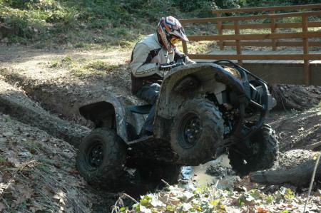 The Grizzly 700 is a true go anywhere, do anything utility quad.