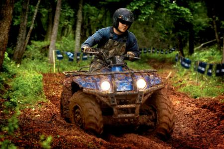 Yamaha's sealed rear disc braking system really helps this ATV stand out.