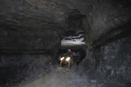 It was surreal riding around through these narrow openings in the mine.