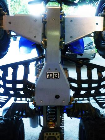 Here's a look at DG Performance's Baja skid plate and A-arm guards after the install.