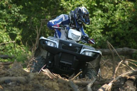 It's much easier to hold a line in gnarly conditions with power steering.