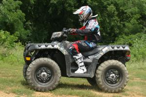 Polaris rotated the engine 90 degrees in the 850 XP, giving the rider a lot more room to move around.