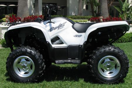 Check out those shiny wheels on the Grizzly 700 FI EPS SE.