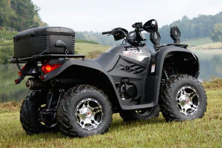 Black paint and alloy wheels highlight the LE package for the MXU 500 and 375.