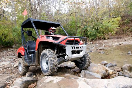 The 2010 Teryx likes to play in the water and on the rocks.