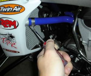TPR replaced the stock coolant hoses with a set of CV4 pure silicone hoses to help keep operating temperatures down.