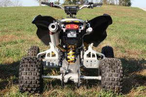 Can-Am's DS 450 X mx is blessed with 10.7 inches of travel front and rear.