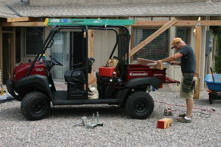 The Mule 4010 Trans4x4 stands out as a work companion.