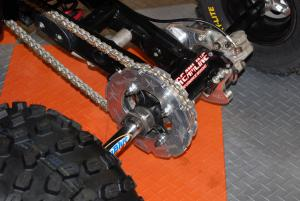 Blingstar's billet sprocket guards and rotor guards were a hit at the Dealer Expo.