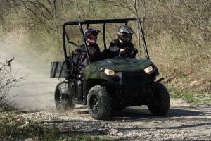 With 455cc of power on tap the Ranger 400 offers plenty of speed for tail riding.