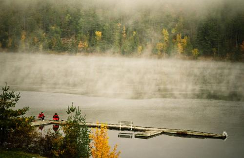 Two fishermen were casting their lines as the morning fog lifted off the Ottawa River.