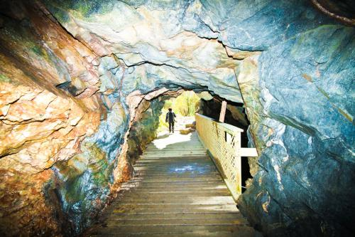 Here's the entrance to the mica mine. Make sure you bring a good flashlight before you go exploring.