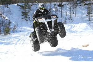 The 455cc engine isn't a powerhouse, but it still makes for plenty of fun.
