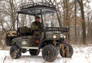 The Buggy's camouflage pattern, along with the silent operation, make it a good vehicle for hunters.