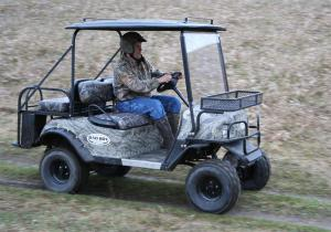 With an electronic accelerator pedal and rack and pinion steering, the Bad Boy Buggy is a breeze to drive.