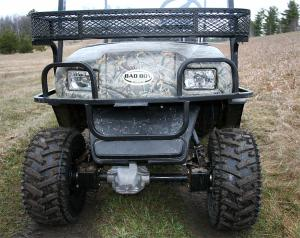 There are two 30-watt headlights and a storage basket on the front.