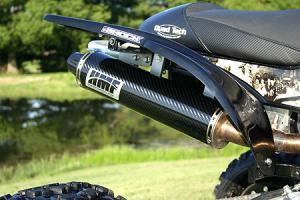 This HMF exhaust provides a sweet sound and some extra power.