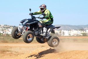 It's easy to get the Rapier airborne, but larger riders may bottom out the suspension on big jumps.