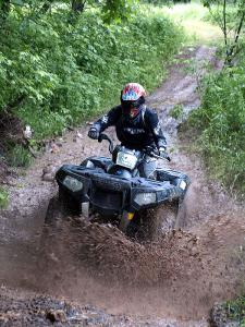 Running in wet terrain or dry is no problem for the Sportsman XP.