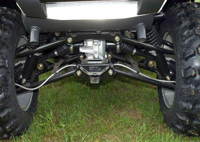 The revised independent rear suspension gives you more than 10-inches of travel.