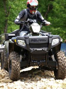 The six-wheeled Big Boss gains the 800cc fuel injected twin for 2009.