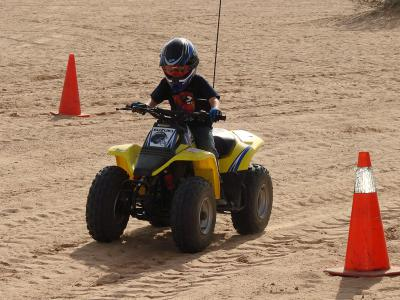 Kids are always going to want to get bigger and faster quads, but it is up to the parents to make sure kids are riding appropriate sized ATVs.