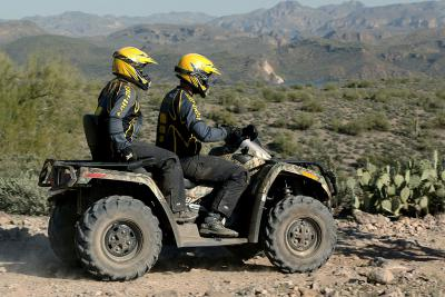 There's plenty of power in the 500cc engine to carry a driver and passenger over just about any terrain.