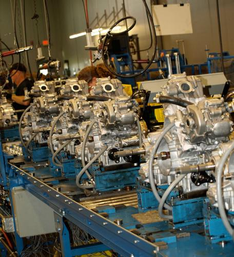 Newly Assembled Arctic Cat Engines