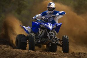 The wider footprint of the YFZ450R offers more stability when cornering.