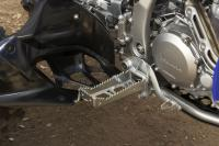 The new footpegs are huge at 63mm wide.