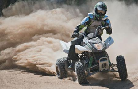 Added power and a wider track highlight the new 300 DVX sport ATV.