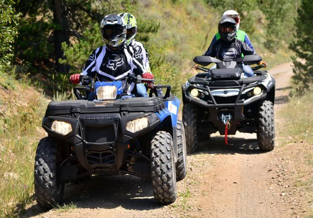 2013 Polaris Sportsman Touring 550 EPS Action
