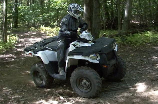 2014 Polaris Sportsman 570 Action Cornering